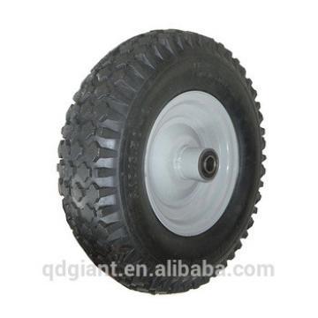 Good bearing rubber wheel 4.10/3.50-6 with metal rim
