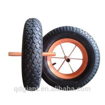 Pneumatic rubber wheel 3.50-8 stud pattern 2PR