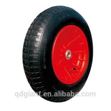 Wheel barrow wheel with plastic rim 3.50-8 bend valve or straight valve