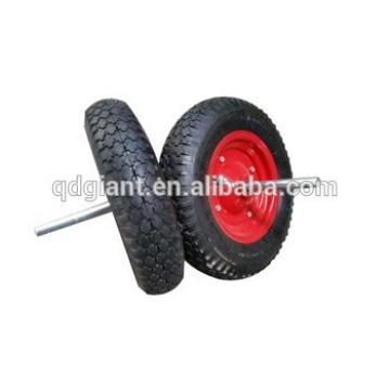 Wheelbarrow pneumatic tyre and axle 4.00-8