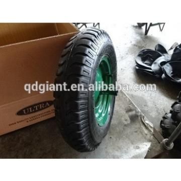 Heavy duty claw pattern barrow pneumatic wheel 400-8