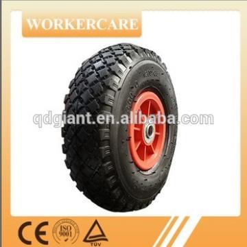 needle bearings hand trolley rubber wheel 3.00-4