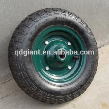 China supply 3.50-7 pneumatic rubber wheel for wheelbarrow