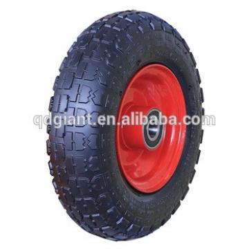 Medium Size Trolley pneumatic wheel on a steel rim