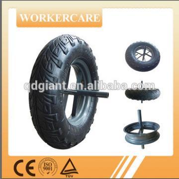 400mm wheelbarrow rubber wheels