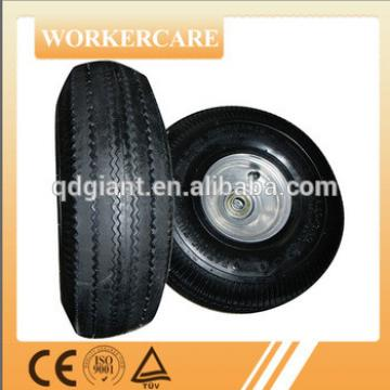 solid PU foam and pneumatic hand trolley wheel