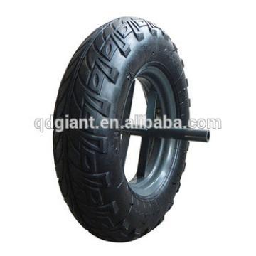 16inch Pneumatic Rubber wheelbarrow metal hub wheel
