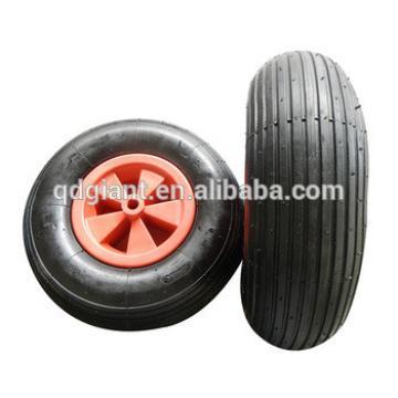 Line pattern wheelbarrow wheel 3.50-6 with plastic hub