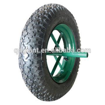 "14""X3.50-8 large cross pattern pneumatic wheel for Tool carts"
