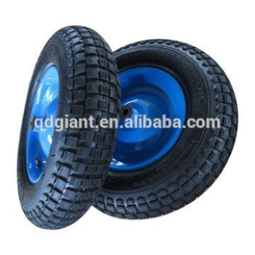 Srong heavy duty hand barrow wheel with steel rim