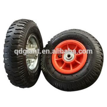 PR1403 solid,PU foam and penumatic rubber detachable trolley wheels 2.50-4
