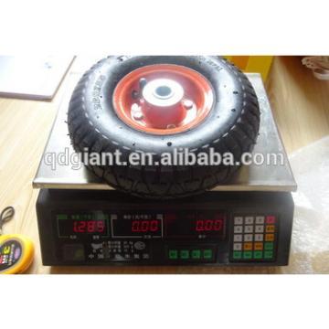 260x85 steel rims wheels rubber trolley wheels