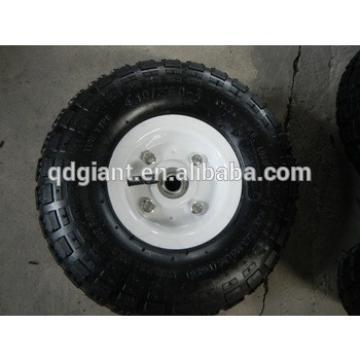 "10""x3.50-4 air rubber wheel for hand trolley beach buggy"
