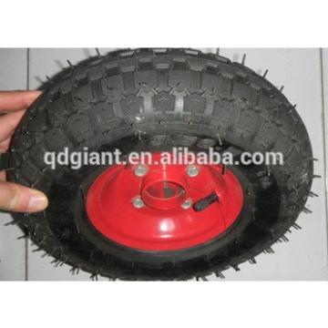 steel rim pneumatic trolley wheels wheelbarrow wheels 3.50-5