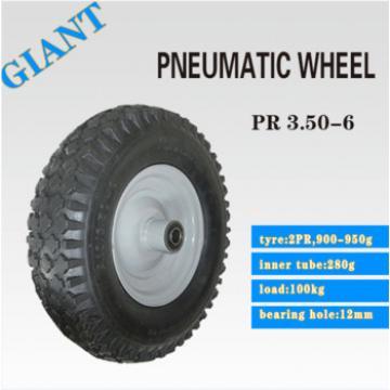 hot sale steel rims wheels rubber kids wagon cart wheel 3.50-6