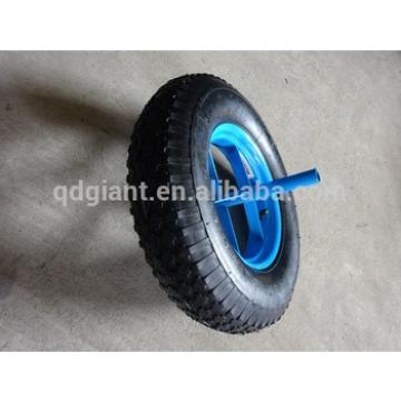 16 inch portable pneumatic wheel for wheelbarrow with a long axle