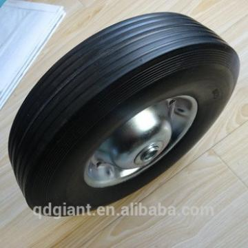 """Solid rubber wheel with metal rim 10""""x2.5"""""""