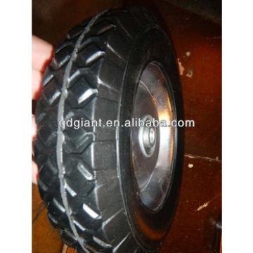 factory trolley metal rim ball bearing solid wheel 8*1.75