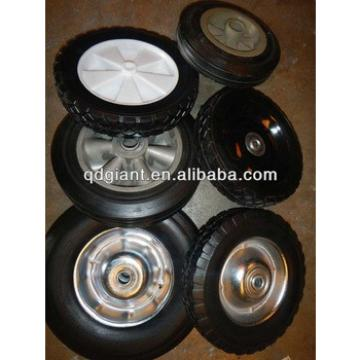 Yinzhu plastic/steel rim rubber solid wheel