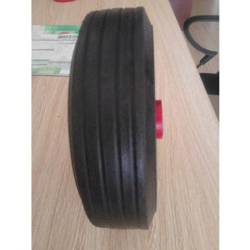 construction hand trolley rubber solid wheel 8*2.5