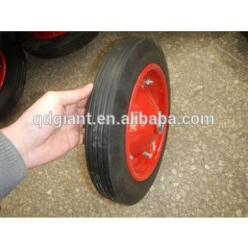 """solid rubber wheel 13""""x3"""" use for hand truck"""