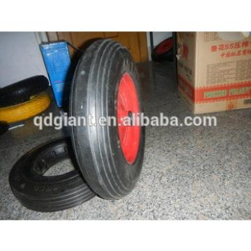 16 inch solid rubber wheel with metal rim