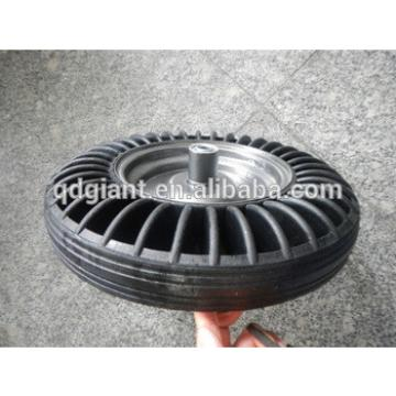 Heavy duty solid rubber wheel for wheel barrow 3.50-8