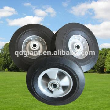 "8 inch solid rubber wagon wheel 8""x2"""