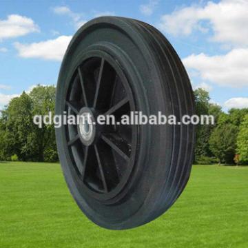 11 inch solid wheel /rubber wheelbarrow wheels with plastic Rim