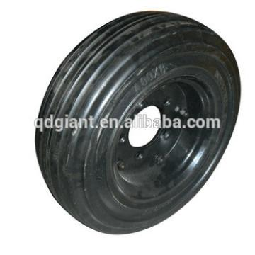 industrial solid rubber wheel 16inch 400-8