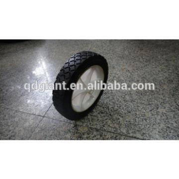 "7x1.5"" solid rubber wheels with plastic rim for air compressor/garden cart/wheel barrow"