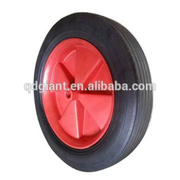 solid rubber wheel 10x1.5 with plastic rim