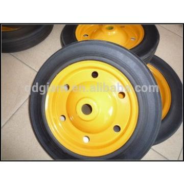 """Flat free hand truck tyre,solid rubber wheels 13""""x3"""""""