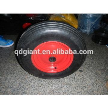"""Solid wheel for wheelbarrow & trolley & hand carts 16""""x4"""""""