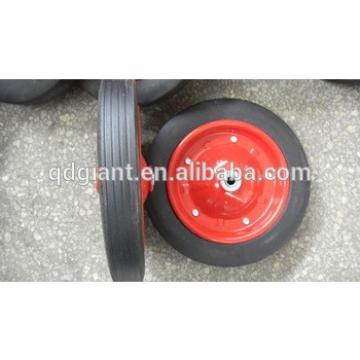 "Wheel barrow solid rubber wheel 13""x3"" with steel rim"