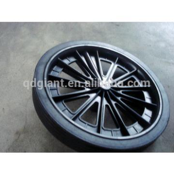 Recycl bin wheel with plastic rims