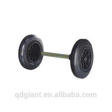 195mm light duty PU recycle bin wheels