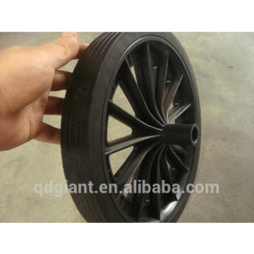 300mm Trash can solid rubber wheel with plastic rim