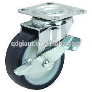 3 inch plastic swivel caster wheels with double brake