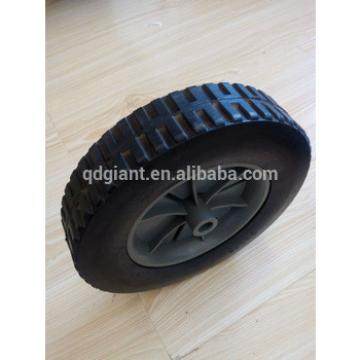 Used for hand trolley solid rubber wheel 8inch
