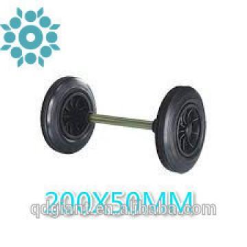 "Qingdao Solid Wheel 8""x2"" Garbage Rubbish Bin Wheel"