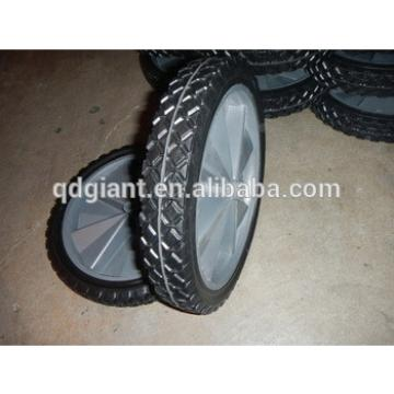 12 inch solid rubber wheels with plastic rim