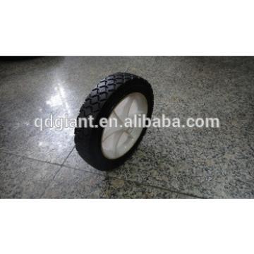 solid rubber wheel 7x1.5 trolley wheel caster wheel
