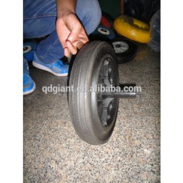 300mm black rubber trash wheel 12x2