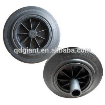 200mm rubber trash bin wheel used for two-wheeled dustbin