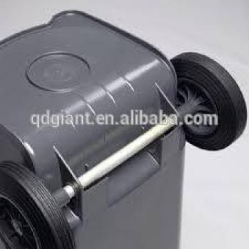 """8"""" rubber tire with axles for wheelie bin"""