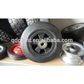 Small solid rubber tire for mobile generators