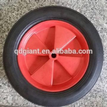 10*1.5 solid rubber wheels with plastic hub for trolley
