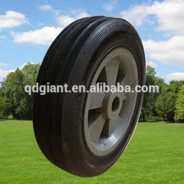 5inch plastic rim rubber wheel for lawn mower