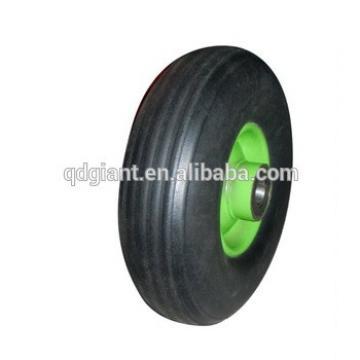 9 inch solid rubber powder wheel , trolley wheel